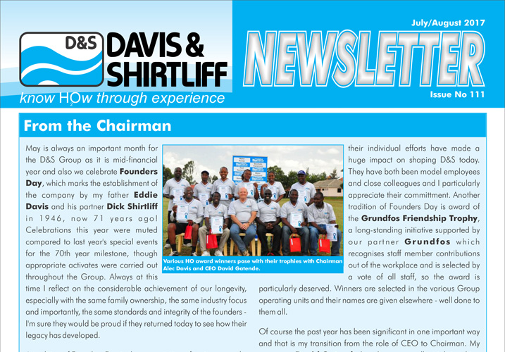 Davis and Shirtliff Corporate Newsletter Issue 111