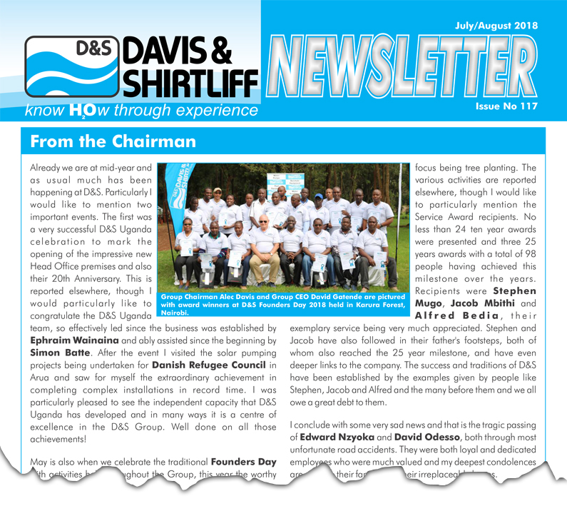 Davis and Shirtliff Newsletter 117