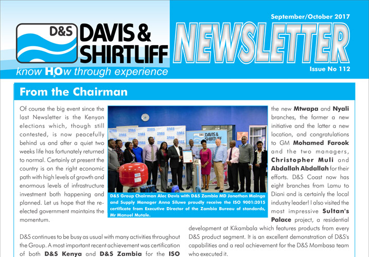Davis and Shirtliff Corporate Newsletter Issue 112