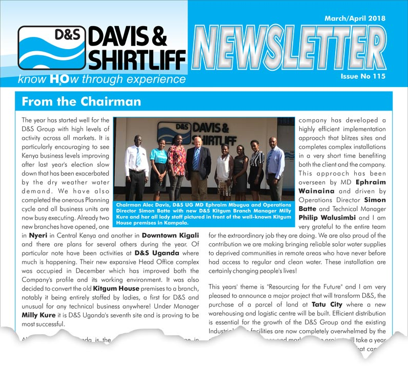 Davis and Shirtliff Newsletter 115
