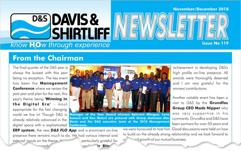 Davis and Shirtliff Newsletter 119