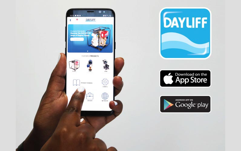 A view of the recently launched Dayliff App which is universally available on Android's Google Play Store and the iOS Store App Store.