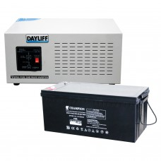 Vispra 1000W Inverter + 100Ah Battery